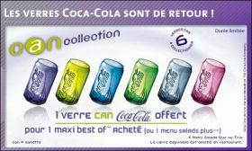 "Verres Coca-Cola - ""Can"" Collection 2007"