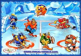 Hockey sur glace (figurines Kinder surprise) NV011 à NV016