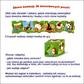 Puzzle Animaux Danonki (Magnets) - Pologne