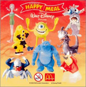 Monstres & Cie - Happy Meal - Mc Donald - 2002
