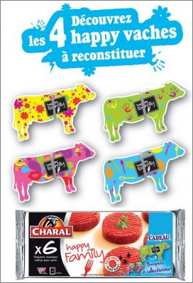 4 Happy vaches - Magnets Charal - 2012