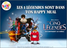 Les 5 Légendes - Happy Meal -  Mc Donald - 2012