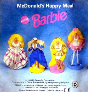 Barbie - Happy Meal - Figurines Mc Donald - 1993