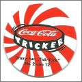"Coca-Cola Tricker Crazy Fun ""Tick-Tack"" - Pogs - 1996"