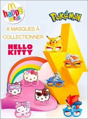 Lunettes Hello Kitty / Pokémon Happy Meal - Mc Donald - 2013