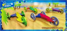 Dragster 3 roues - Kinder Joy - TR324 A-B - TR325 A-B