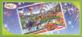 Sporty animals - Puzzles  kinder - Asie -  2012 -  DC282
