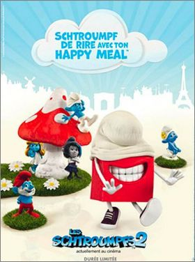 Les Schtroumpfs  2 - Happy Meal -  Mc Donald - 2013 - France