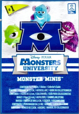 Monsters University (Academy) Monster minis - Figurines 2013