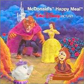 La Belle et la Bête   Disney - Happy Meal - Mc Donald  1992