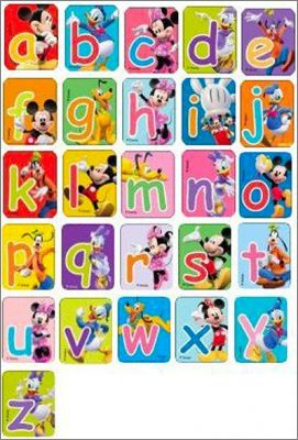Alphabet Disney (Magnets) Fun Fruits - 2010 - Pays-Bas