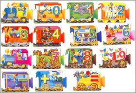 Danonino - Le Train Puzzle (magnets) Gervais - Belgique