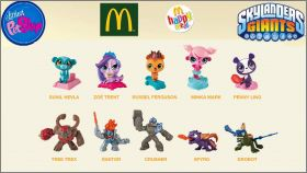 Littlest Pet shop Skylanders - Happy Meal - Mc Donald - 2013