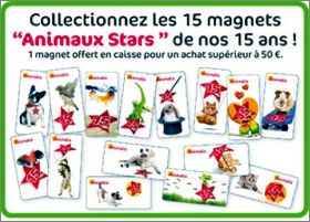 Animaux stars de nos 15 ans - 15 Magnets  Animalis - 2013