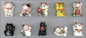 Les Chats Maneki-Neko - Fèves Brillantes et Or - 2012