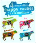 4 Nouvelles Happy vaches à reconstituer Magnets Charal  2013