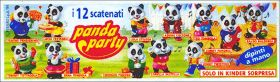Panda Party - Figurines Kinder surprise - Italie - 1994