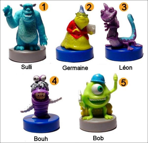 Monstres Cie Figurines Bonux Walt Disney Animations 3d