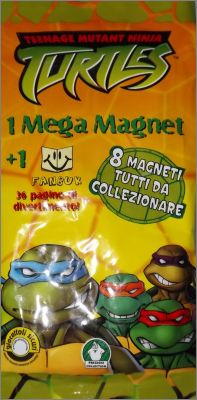 Teenage Mutant Ninja Turtles Mega Magnet + Fanbuk  Preziosi