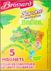 Savane destination Brésil Brossard - Carte du Brésil Magnets