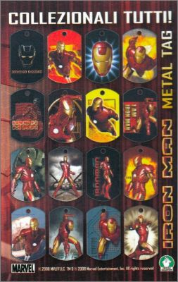 Iron Man - Metal Tag - Collection Preziosi