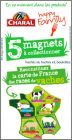 Carte de France des races de Vaches - Magnets Charal - 2014