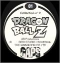 Dragon Ball Z - Caps Panini - série 2 - 1996