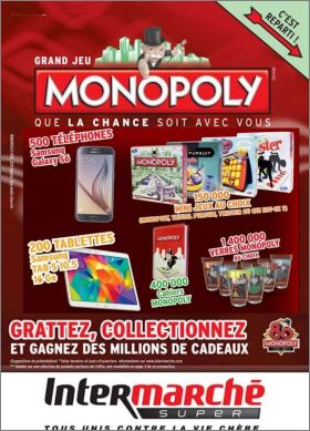 grand jeu monopoly verres et mini jeux intermarch. Black Bedroom Furniture Sets. Home Design Ideas