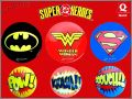 "Super héros DC Comics - 6 Badges ""métal"" - Quick 2001"