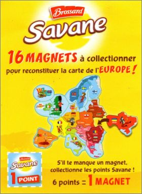 16 Magnets - Savane de Brossard - Carte de l'Europe - 2016