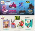 Barbie / Batman Agents Secrets Happy Meal - Mc Donald - 2016