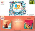 60 Schtroumpfs à collectionner - Happy Meal Mc Donald - 2018