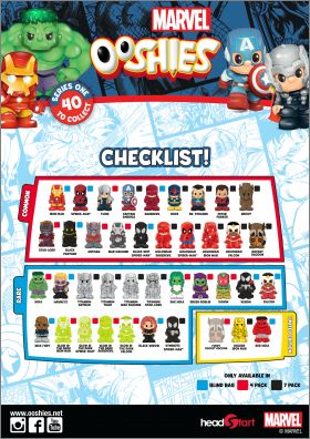 Marvel - Series 1 - 40 Figurines - Ooshies  - Headstart 2016