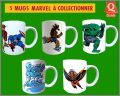 Marvel Comics - 5 mugs à collectionner - Quick 2009