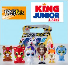 Feisty  Pets  - 6 Figurines - Burger King - 2020