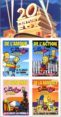 Les Simpson Le Film - 4 Magnets - Century Fox - 2007