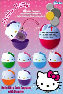 Hello Kitty Coin Capsule with Dangler - Tomy