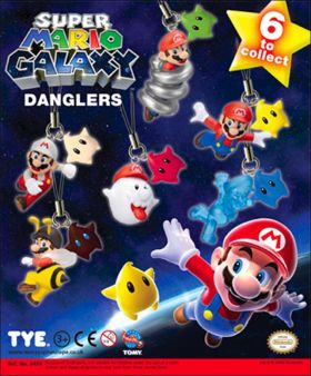 Super Mario Galaxy Danglers -  Nintendo - Figurines Tomy