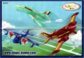 Avions de ligne - Kinder Surprise - 2S-366 à 2S-368 - 2006