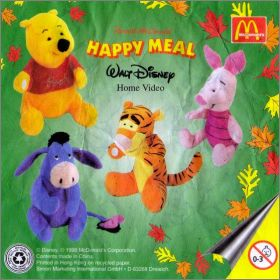 Winnie L'ourson - Disney - Happy Meal - Mc Donald - Peluche