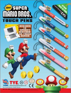 New Super Mario Bros - Stylets Nintendo DS - Tomy